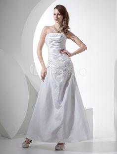 #Milanoo.com Ltd          #Wedding Dresses          #A-line #Strapless #Beading #Taffeta #Wedding #Dress                          A-line Strapless Beading Taffeta Wedding Dress                                http://www.snaproduct.com/product.aspx?PID=5679910