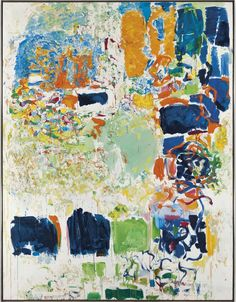 """Joan Mitchell (1925-1992), Noon, signed 'Joan Mitchell' (lower left); signed again and titled '""""Noon"""" Joan Mitchell' (on the reverse), oil on canvas, 103 x 79 in. (261.6 x 200.6 cm). Painted in 1969."""