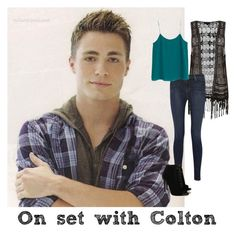 """""""On the Set of Teen Wolf with Colton and being best friends"""" by fanfic123fanatic ❤ liked on Polyvore"""