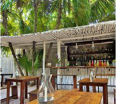 Beachy bar