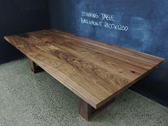Mitred U base American Black Walnut table | Christian Cole Furniture