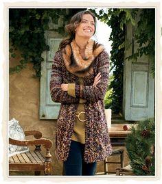 Cozy Cabled Sweater via softsurroundings.com