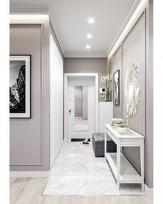 Ideas Interior Design Inspiration best gray paint colour benjamin moore revere pewter is a soft and light gray colour. Looks best with dark wood . House Design, Room Design, Hall Decor, Interior Design Inspiration, Entryway Decor, Home Decor, House Interior, Home Interior Design, Interior Design