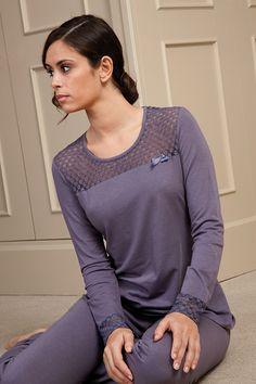 Pijama confeccionado en algodón- viscosa #pijama #sleepwear #egatex