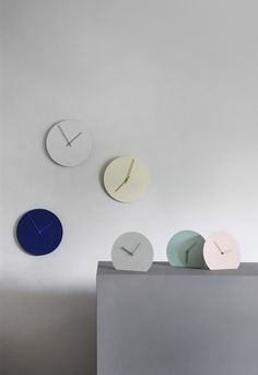 Menu Steel Stand & Wall Clocks by Norm Architects
