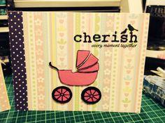 Cherish every moment card - girl 1