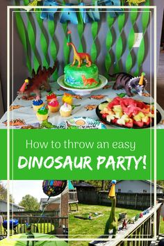 How to throw an easy Dinosaur Party! Party Party, Ideas Party, Best Kids Toys, Plan My Wedding, Dinosaur Party, Third Birthday, Childrens Party, Birthday Party Themes, Party Planning