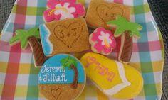 Occasional Cookies: Beachy Wedding Cookies