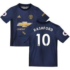 97543d9c170 Marcus Rashford Manchester United adidas Youth 2018/19 Third Replica Player  Jersey – Navy