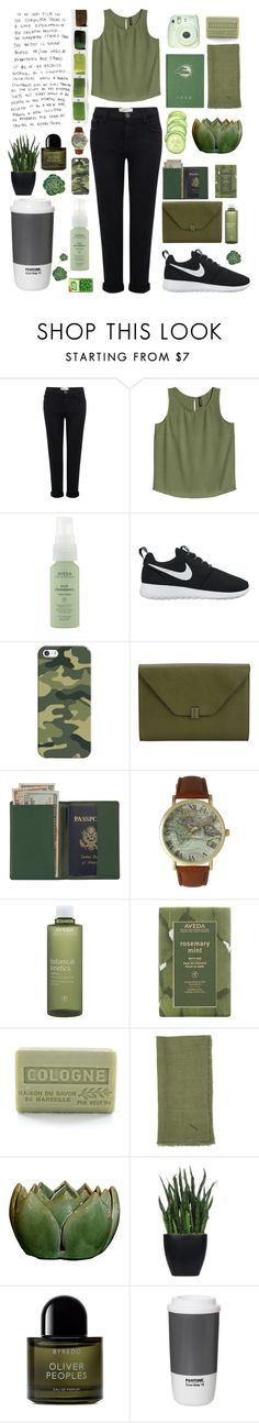 """Untitled #116"" by deandelaina on Polyvore featuring Current/Elliott, Aveda, NIKE, Casetify, Valextra, Royce Leather, Olivia Pratt, Branche d'Olive, Sir/Madam and Lux-Art Silks"