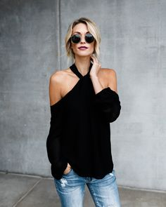Up All Night Top - Black