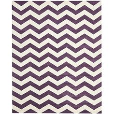 Safavieh Chatham Collection CHT715F Handmade Purple and Ivory Wool Area Rug, 6 feet by 9 feet (6′ x 9′)