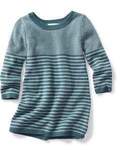 Striped Sweater Dress for Baby - save for fall