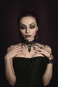 Model/ MUA/ Photo: Darya Goncharova Jewelry: Devilnight