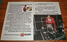 Vintage 1981 Apple PC Personal Computer Optical Enginer Zoom Lens Ad