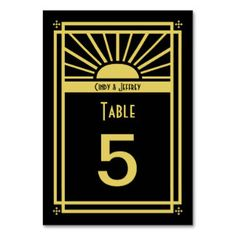 Table Cards, Table Card Designs