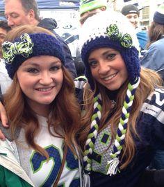 Seattle Seahawks Womens Earflap Beanie by CamrynCarolina on Etsy