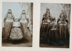 Marken, A large cabinet image showing the front as well as the back of these two girls and little boy.