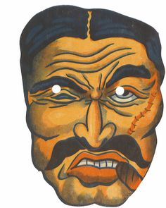 accidental mysteries: 1930s Cardboard Masks