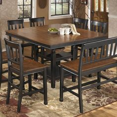 Get Your Owingsville Square Drm Counter Ext Table At Furniture Land Ohio Columbus Oh