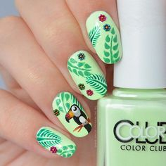 Instagram media onceuponablog.nl - Tropical #nail #nails #nailart