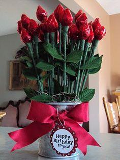 Hershey Kiss Roses