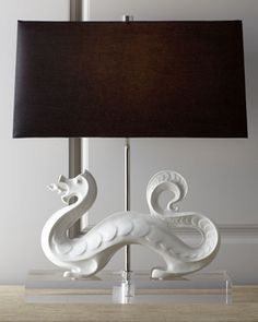 """""""White Dragon"""" Lamp by Jonathan Adler at Horchow."""
