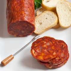 Thick and flavorful, this chorizo cantimpalo is seasoned to perfection and perfect for cheese platters! Buy Quijote chorizo today at Gourmet Food Store. Homemade Summer Sausage, Homemade Sausage Recipes, Chorizo Recipes, Gourmet Food Store, Gourmet Recipes, Charcuterie, How To Cook Polenta, Specialty Meats, Meat Seasoning