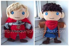 Merlin and Prince Arthur by sequinjar.deviantart.com on @DeviantArt