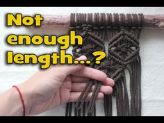 Not enough rope length for macrame? Watch carefully! - YouTube