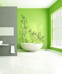 Vinyl Wall Decal Sticker Flower Bird Swirl #1005 | Stickerbrand wall art decals, wall graphics and wall murals.