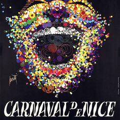 Vintage Travel Poster France - Nice - Côte d Azur - Carnival