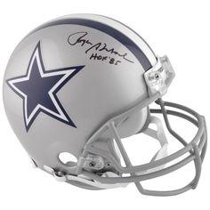 3d815b4caba Roger Staubach Dallas Cowboys Fanatics Authentic Autographed Hall of Fame Pro  Helmet