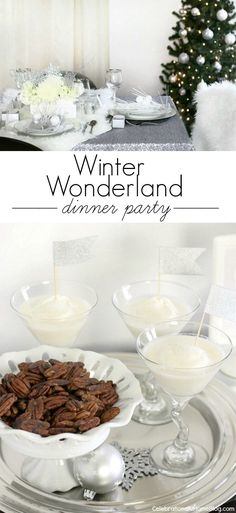 Winter Wonderland holiday dinner party ideas and recipes
