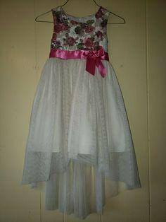 4e253ec75e4 Bonnie Jean Big Girls Ivory Lace Overlaid High-Low Sleeveless Dress 5   fashion