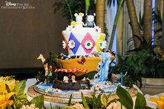 Jungle Cruise Disney wedding cake