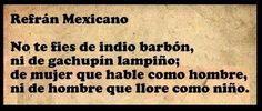 Refran mexicano.