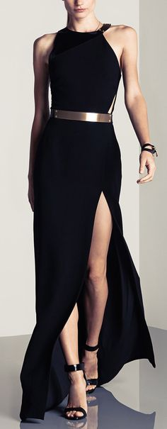 Halston Heritage belted gown