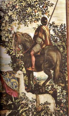 O Índio à Cavalo ou O Cavalo Malhado Autor do modelo: Albert Eckhout (c.1610-1665) Tapeçaria - Baixo liço - Lã e seda - Ateliê Jean Mozin 2º tapeçaria - 1º guarnição - Tecelagem entre 12 de julho de 1689 e o 2º quarto de 1690 Altura 4,75 m; comprimento 3,63  Coleção Mobiliário Nacional Albert Eckhout, Johann Moritz Rugendas, His Travel, National Museum, Van Gogh, Art History, 1, Sketches, Fine Art