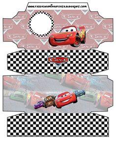 Cajitas imprimibles gratis de Cars. Disney Cars Party, Disney Cars Birthday, Car Themed Parties, Cars Birthday Parties, 3rd Birthday Boys, Party In A Box, Printable Party, Free Printable, Kit Cars