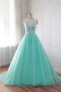 Custom Made Admirable Long Prom Dress Lace Wedding Dresses Green Prom Dress