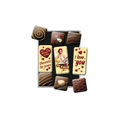 I Love You Chocolate - Magnet-Set (9-Teilig)