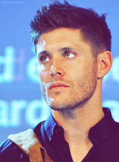 Jensen Ackles. His eyes are beautiful. Well, actually, all of him is beautiful.