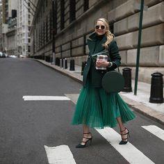 """Дневники мода правила стиля """"Нью-Йоркер"""" зеленый монохроматический наряд"""