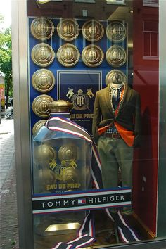 Tommy Hilfiger Penny Loafer window display by Storeax via Retail Design Blog