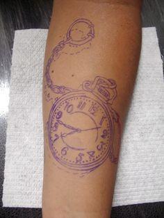 #Plantilla #reloj #tattoo #inked