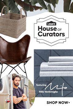 Bring adventure home with Milo Ventimiglia's curation for Lowe's #HouseofCurators. Shop his picks today!