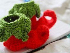 crochet baby elf booties free pattern