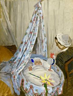 Claude Monet, The Cradle, Camille with the Artist's Son, 1867, oil on canvas, National Gallery of Art, Washington, source