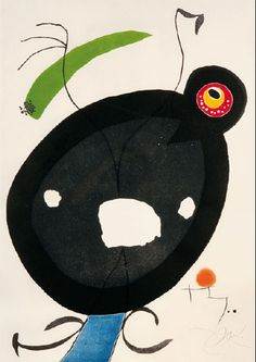 Joan Miro  Blatt 2 Quatre colors aparien el món . . ., 1975